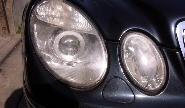 メルセデスベンツEクラス(W211) ヘッドライト磨き